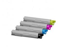 4 Toners Compatibles, OKI 43459324 / 43459369 / 43459370 / 43459371 Noir + Couleur ~ 2.500 Pages