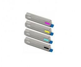 4 Toners Compatibles, OKI 4405921X Noir + Couleur ~ 10.000 Pages