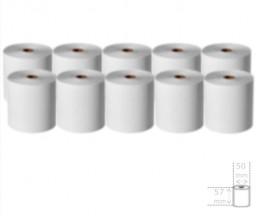 10 Rouleaux de papier thermique 57x50x11mm