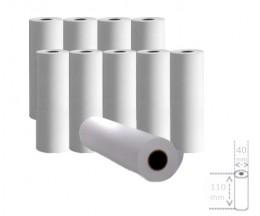 10 Rouleaux de papier thermique 110x40x11mm