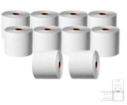 10 Rouleaux de papier thermique 57x70x11mm