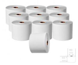 10 Rouleaux de papier thermique 60x80x17mm