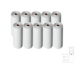 10 Rouleaux de papier thermique 80x40x11mm