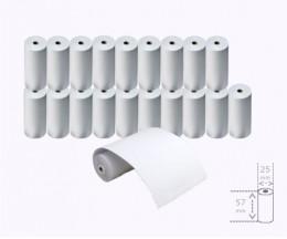 20 Rouleaux de papier thermique 57x25x8mm