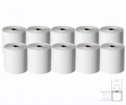 10 Rouleaux de papier thermique 57x60x11mm
