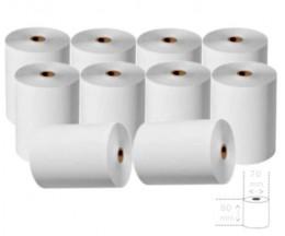 10 Rouleaux de papier thermique 80x70x11mm