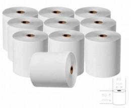 10 Rouleaux de papier thermique 80x80x11mm