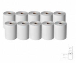 10 Rouleaux de papier thermique 57x45x11mm