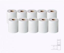 10 Rouleaux de papier thermique 57x40x11mm