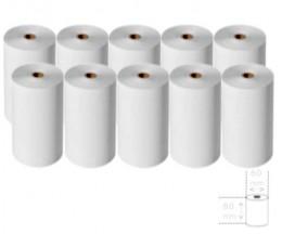 10 Rouleaux de papier thermique 80x60x11mm