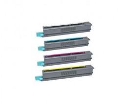 4 Toners Compatibles, Lexmark C925H Noir + Couleur ~ 8.500 / 7.500 Pages