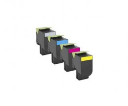 4 Toners Compatibles, Lexmark 802H Noir + Couleur ~ 4.000 / 3.000 Pages
