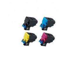 4 Toners Compatibles, Konica Minolta A5X0X50 Noir + Couleur ~ 10.000 Pages
