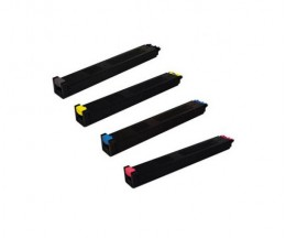 4 Toners Compatibles, Sharp MX27 Noir + Couleur ~ 18.000 / 15.000 Pages