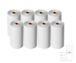 8 Rouleaux de papier thermique 80x55x12mm