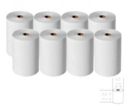 8 Rouleaux de papier thermique 80x65x12mm