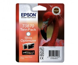 2 Cartouches Originales, Epson T0870 Otimizador de Gloss 11.4ml