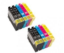 10 Cartouches Compatible, Epson T2991-T2994 / 29 XL Noir 17ml + Coleur 13ml