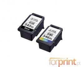 2 Cartouches Compatibles, Canon PG-545 / CL-546 Noir 16ml + Couleur 14.5ml