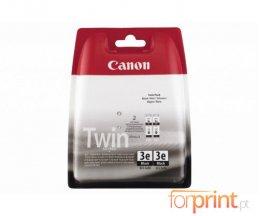 2 Cartouches Originales, Canon BCI-3 EBK Noir 27ml ~ 500 Pages