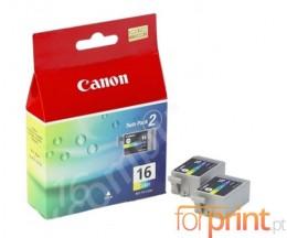 2 Cartouches Originales, Canon BCI-16 Couleur 2.5ml