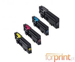 4 Toners Compatibles, DELL 593BBBX Noir + Couleur ~ 6.000 / 4.000 Pages