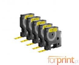 5 Ruban Compatibles, DYMO 40918 Jaune 9mm x 7m