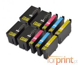 10 Cartouches Compatibles, Epson T2701-T2704 / T2711-T2714 Noir 22.4ml + Couleur 15ml