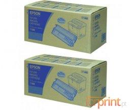 2 Toneres Originales, Epson S051189 Noir ~ 15.000 Pages