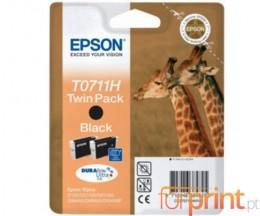2 Cartouches Originales, Epson T0711H Noir 11.1ml