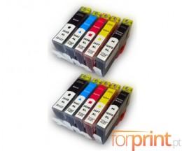 10 Cartouches Compatibles, HP 364 XL Noir 18.6ml + Couleur 14.6ml