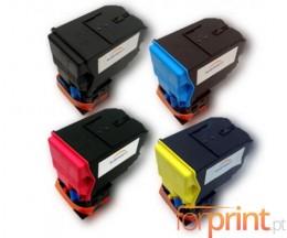 4 Toners Compatibles, Konica Minolta A0X5X50 Noir + Couleur ~ 6.000 Pages