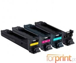 4 Toners Compatibles, Konica Minolta A0DKX52 Noir + Couleur ~ 8.000 Pages