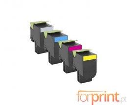 4 Toners Compatibles, Lexmark 702H Noir + Couleur ~ 4.000 / 3.000 Pages