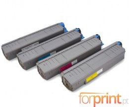 4 Toners Compatibles, OKI 4405910X ~ 8.000 Pages
