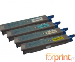 4 Toners Compatibles, OKI 4345943X ~ 2.500 Pages