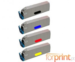 4 Toners Compatibles, OKI 415152XX ~ 15.000 Pages