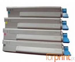 4 Toners Compatibles, OKI 43324408 Noir + 4338190X Couleur ~ 6.000 / 2.000 Pages