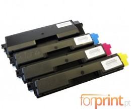 4 Toners Compatibles, Olivetti P2026 Noir + Couleur ~ 7.000 / 5.000 Pages