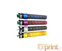 4 Toners Compatibles, Ricoh 84112X Noir + Couleur ~ 20.000 / 16.000 Pages