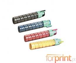 4 Toners Compatibles, Ricoh 88831X Noir + Couleur ~ 15.000 Pages