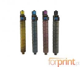 4 Toners Compatibles, Ricoh 88493X / 8886XX Noir + Couleur ~ 23.000 / 17.000 Pages