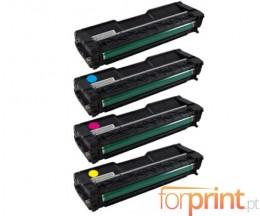 4 Toners Compatibles, Ricoh 40605X Noir + Couleur ~ 2.000 Pages