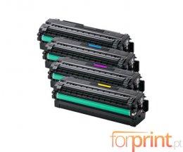 4 Toners Compatibles, Samsung 505L Noir + Couleur ~ 6.000 / 1.500 Pages