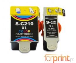 2 Cartouches Compatibles, Samsung M-215 Noir 20ml + C-210 Couleur 40ml