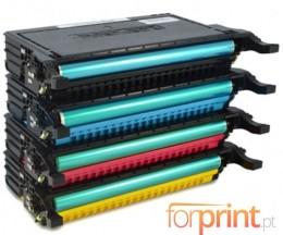 4 Toners Compatibles, Samsung 6092S Noir + Couleur ~ 7.000 Pages